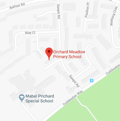 Google Map for Orchard Meadow Primary School